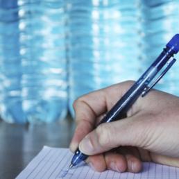 stylo bille écologique en bouteille plastique recyclé