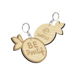 Ce porte-clef en bambou est découpé à la forme de votre logo. Ce porte-clefs publicitaire et éco-responsable est fabriqué en France.