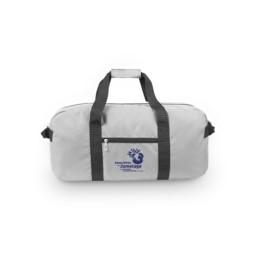 Ce sac de sport et de voyage publicitaire, fabriqué à partir de bouteilles plastiques recyclées (PET).