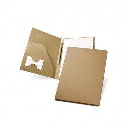 Objet publicitaire écologique : conférencier avec stylo en papier et carton recyclé