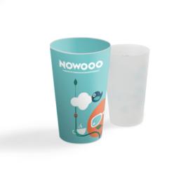 Objet pub écologique : Gobelets réutilisables personnalisés en quadri à 360°