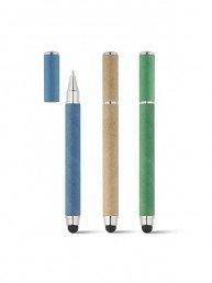 Ce stylo 2 en 1 publicitaire est muni d'un stylo bille et d'une pointe tactile utile pour les tablettes et smartphones. Il est fabriqué en papier kraft.