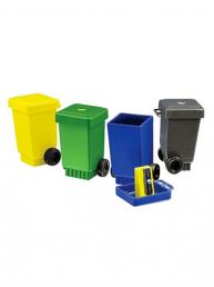 Poubelle Taille-crayons publicitaires en plastique recyclé
