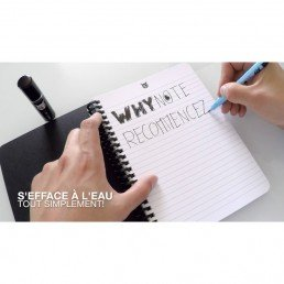 Why note book, le bloc note effaçable