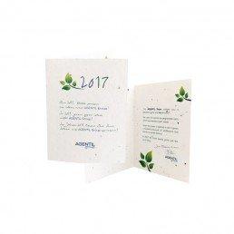 carte de voeux à planter avec graines biodégradable